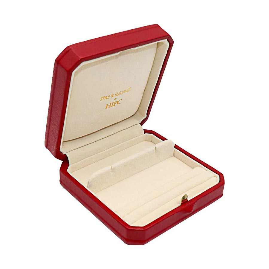 E18 Cufflink & Two Slits Ring Roll Case