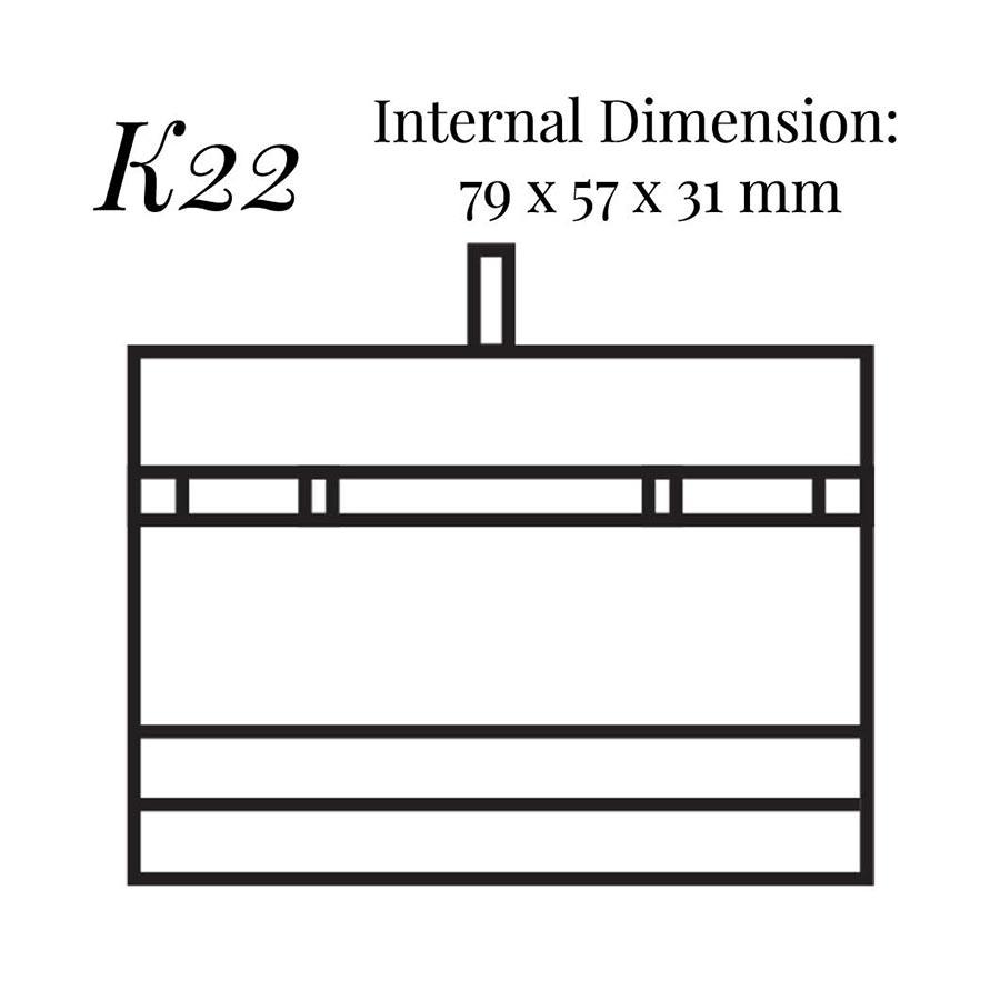 K22 Bar Link & Shirt Stud Case