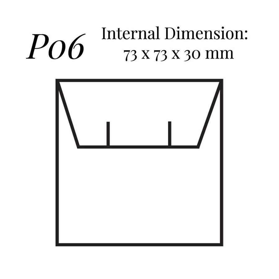 P06 Square Flap Earring Case