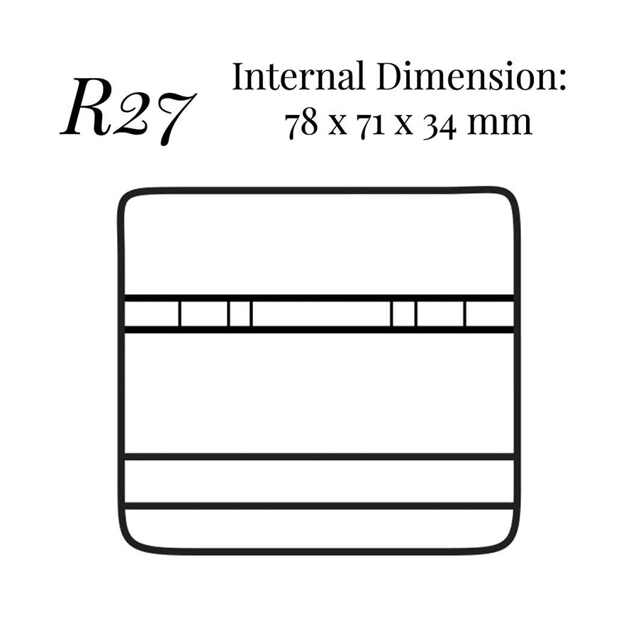R27 Bar Cufflink Stud Case