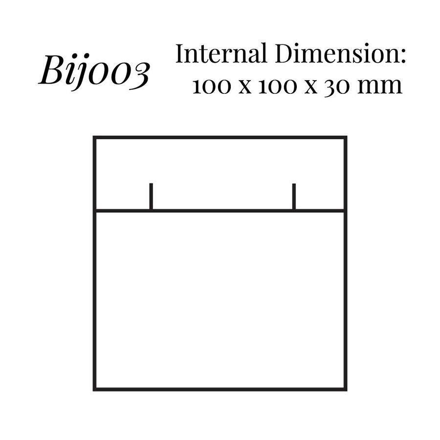 BIJ003 Square Flap Earring Case