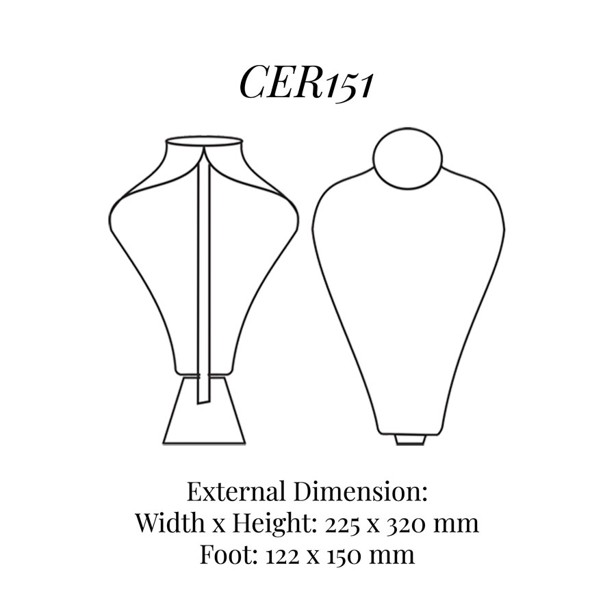 CER151 Extra Tall Necklace Bust