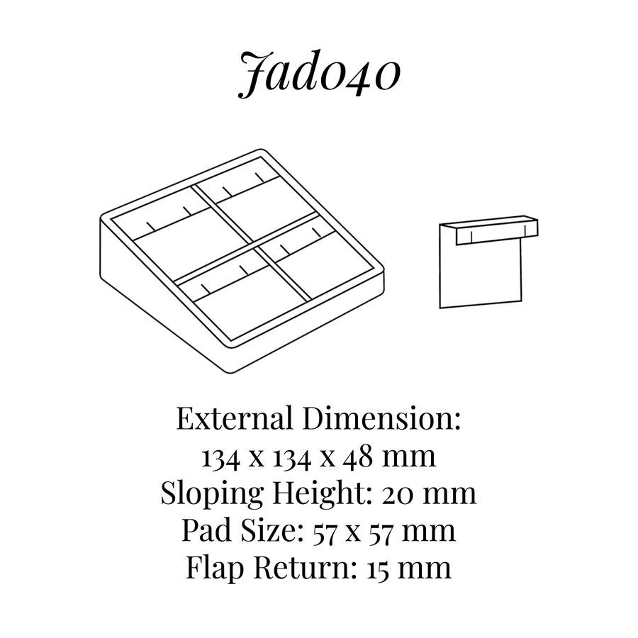 JAD040 Four Pairs Earrings Display