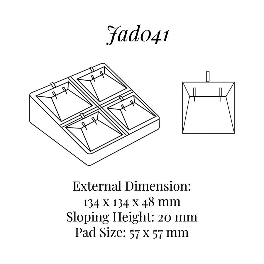 JAD041 Four Pairs Earrings Display
