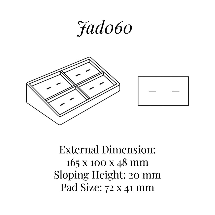 JAD060 Four Pairs Cufflink Display