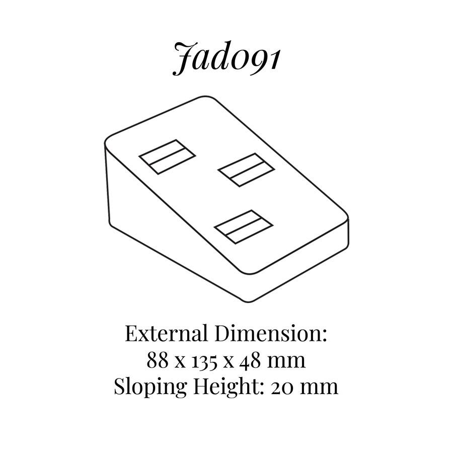 JAD091 Three on Rings Display Block
