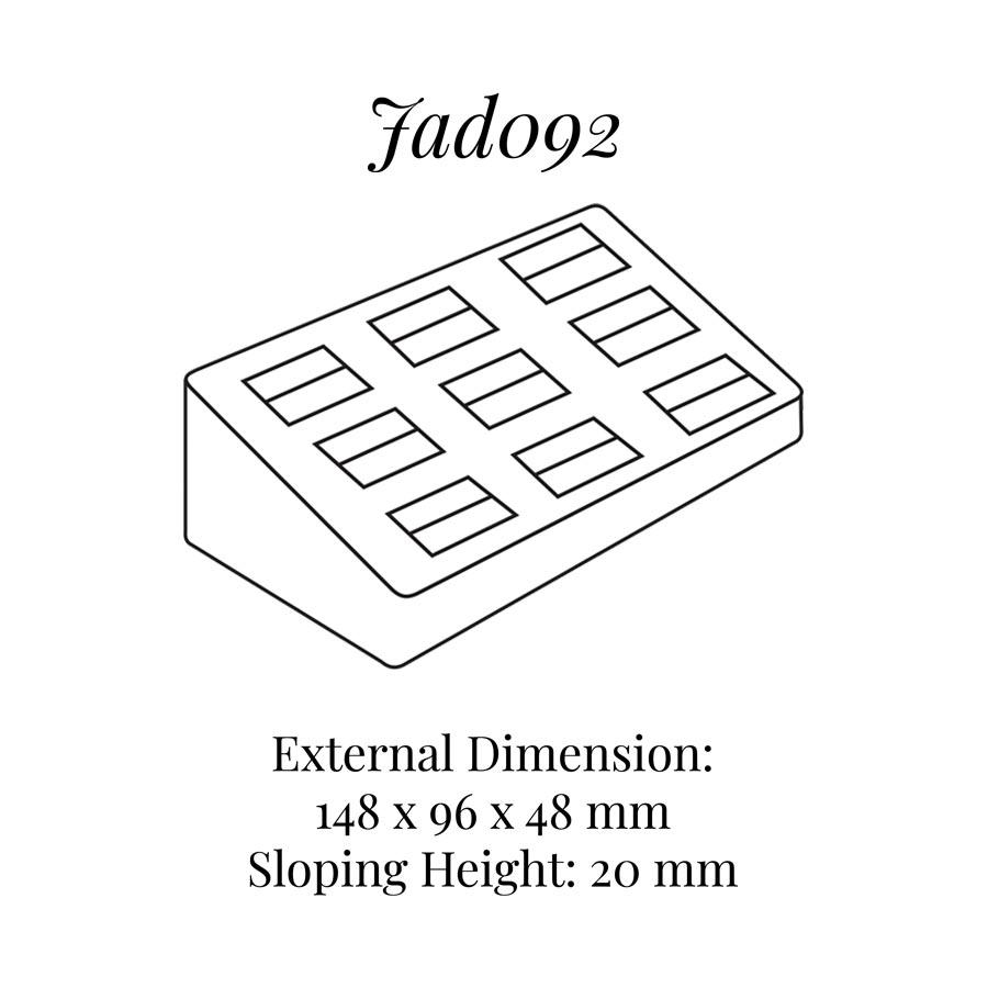 JAD092 Nine Rings Display Block