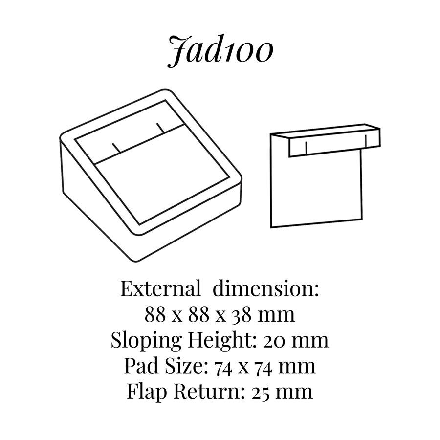 JAD100 One Pair Earrings Block