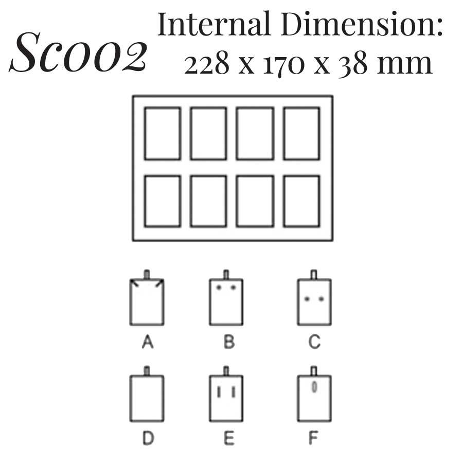 SC002: 8 on Earring Pendant Case