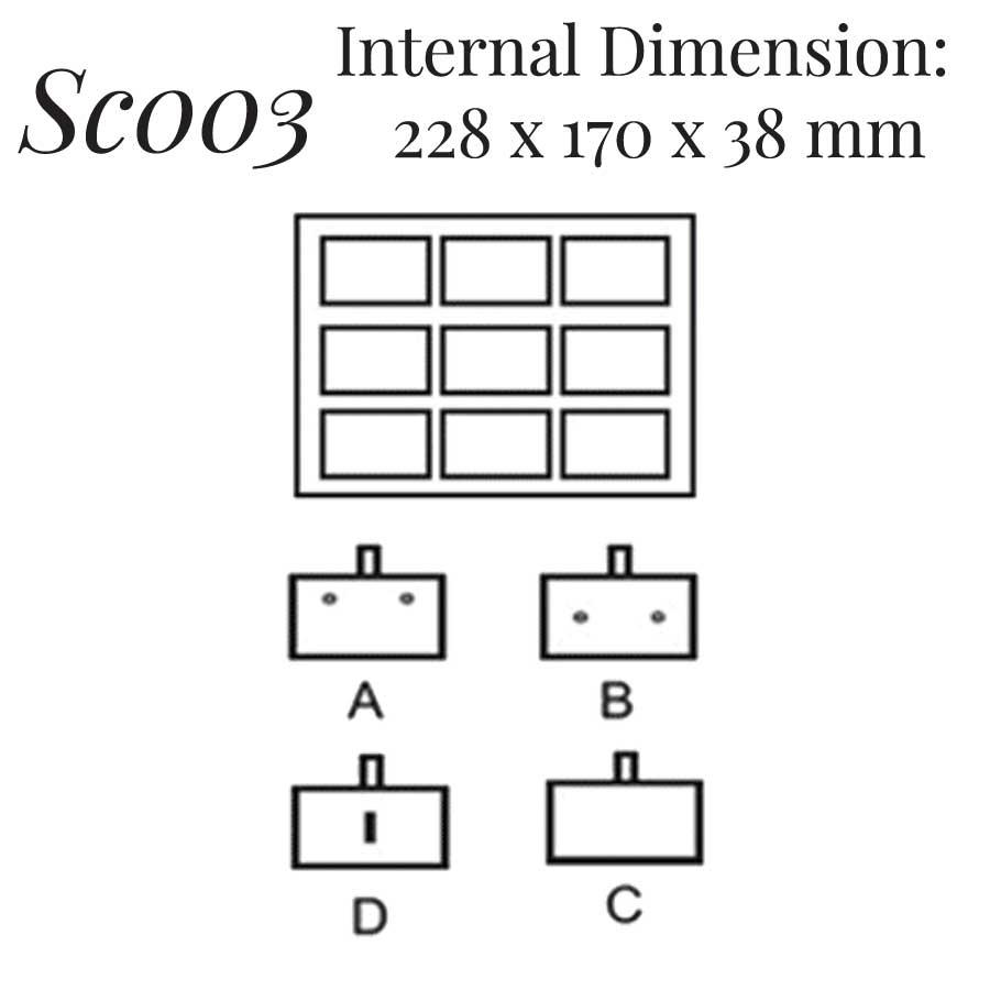 SC003: 9 on Earring Pin Case
