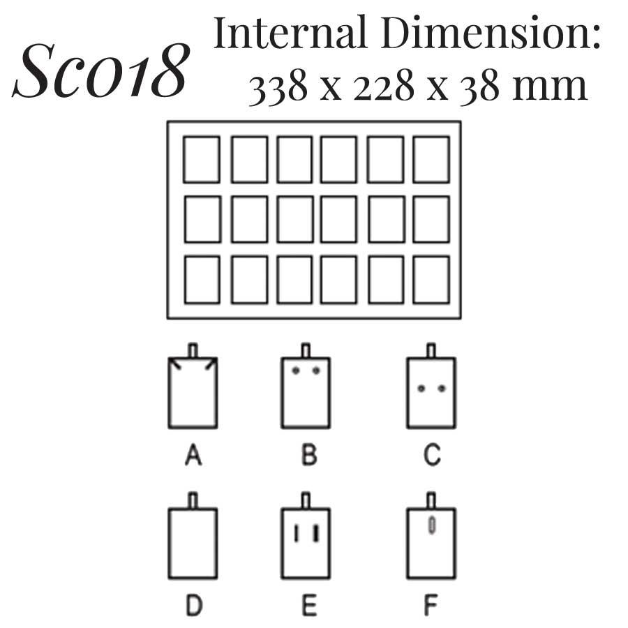 SC018: 18 on Earring Pendant Case