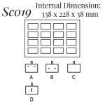 SC019: 16 on Earring Pin Case