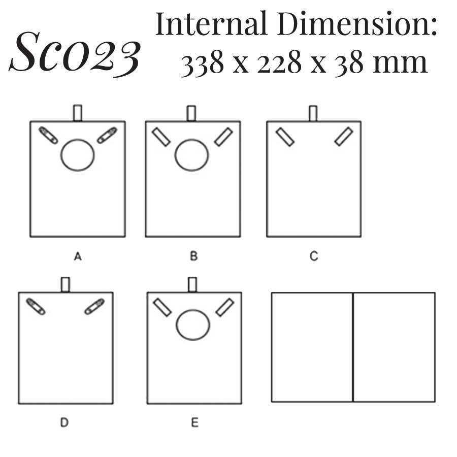 SC023: 2 on Necklace Case