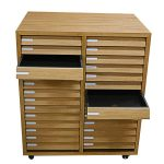 ASH129 Double Tier Drawer Cabinet