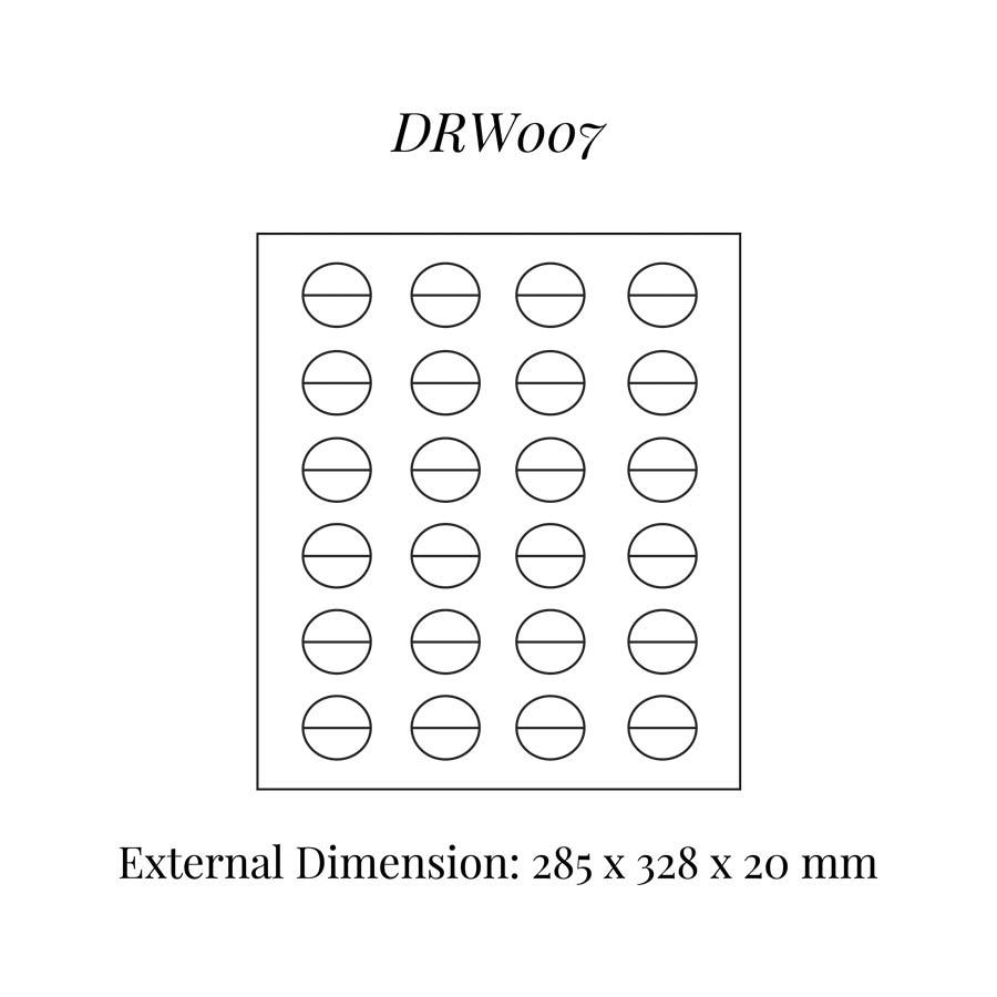 DRW007 Rings (24) Drawer Insert
