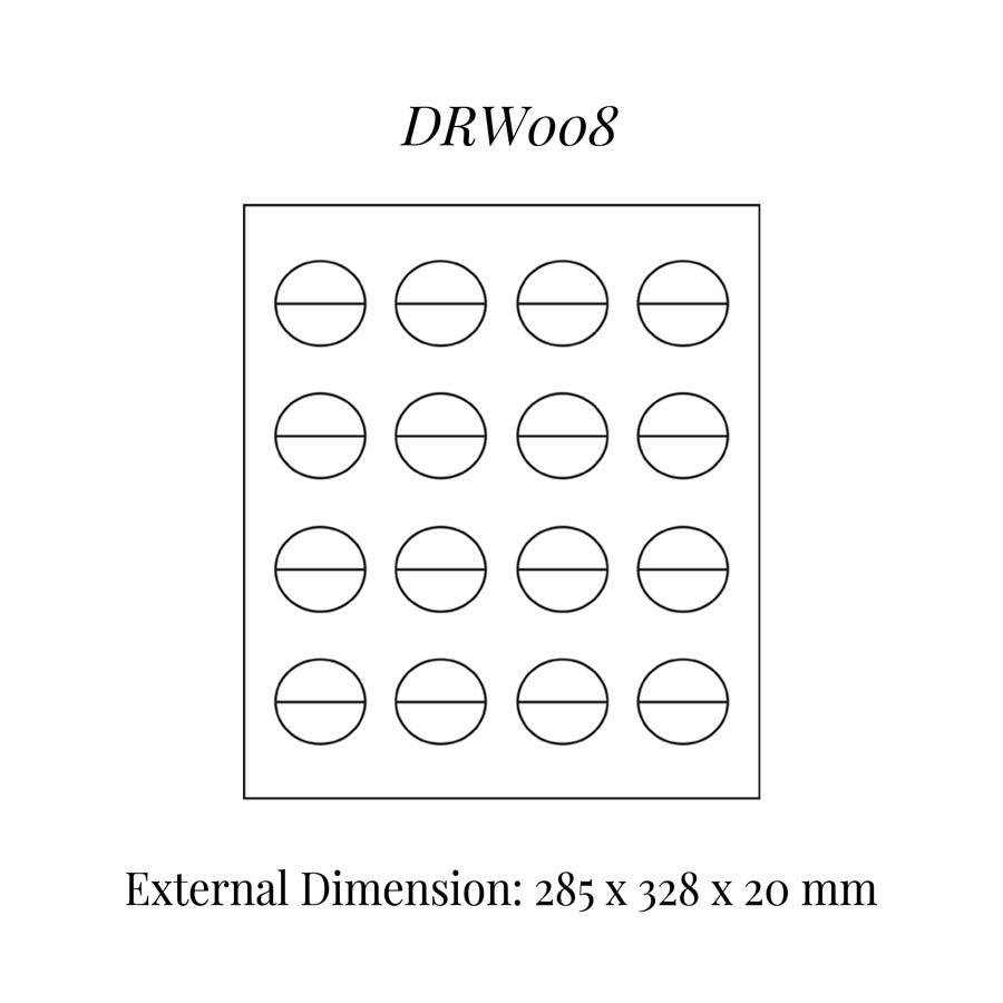 DRW008 Rings (16) Drawer Insert