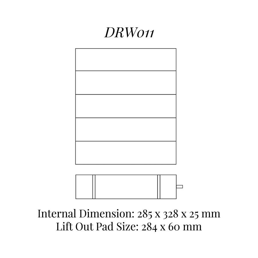 DRW011 Bracelet / Watch Drawer Insert