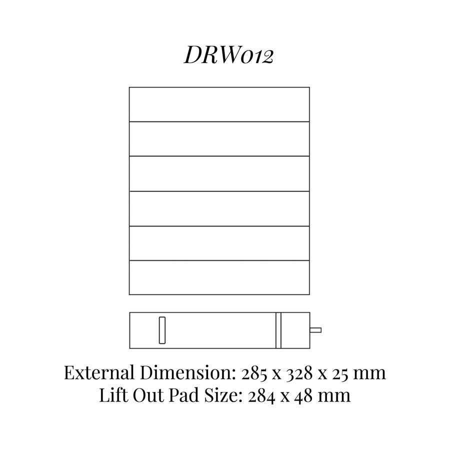 DRW012 Bracelet / Watch Drawer Insert