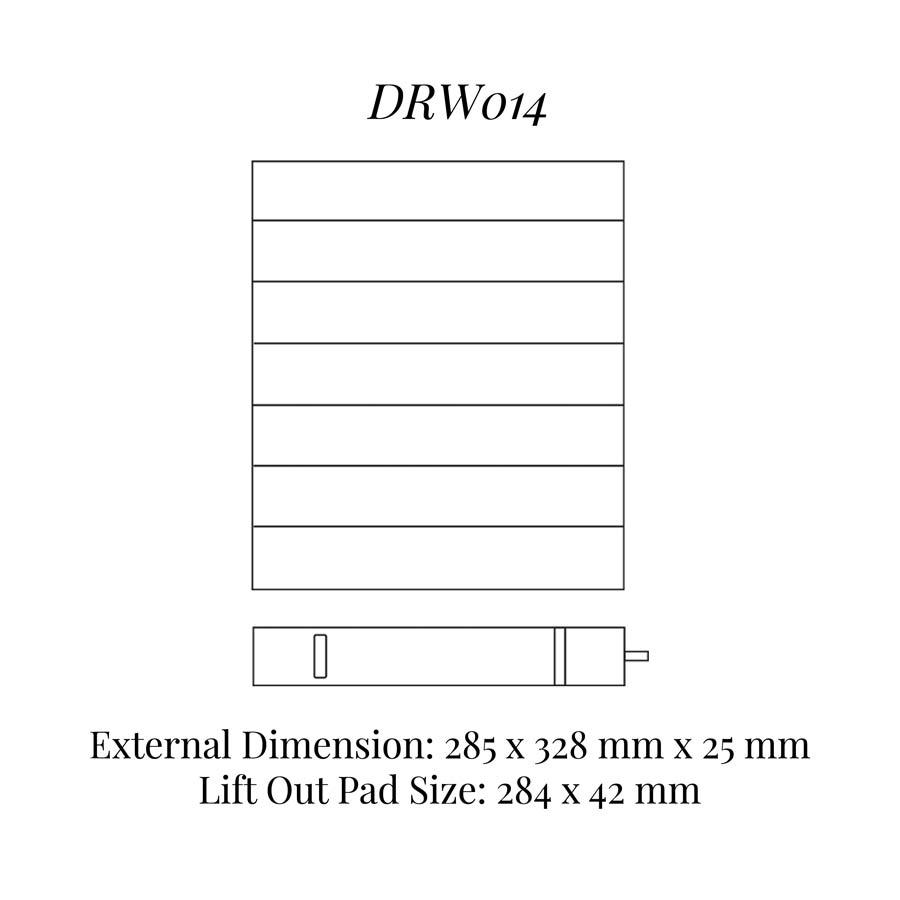 DRW014 Bracelet / Watch Drawer Insert