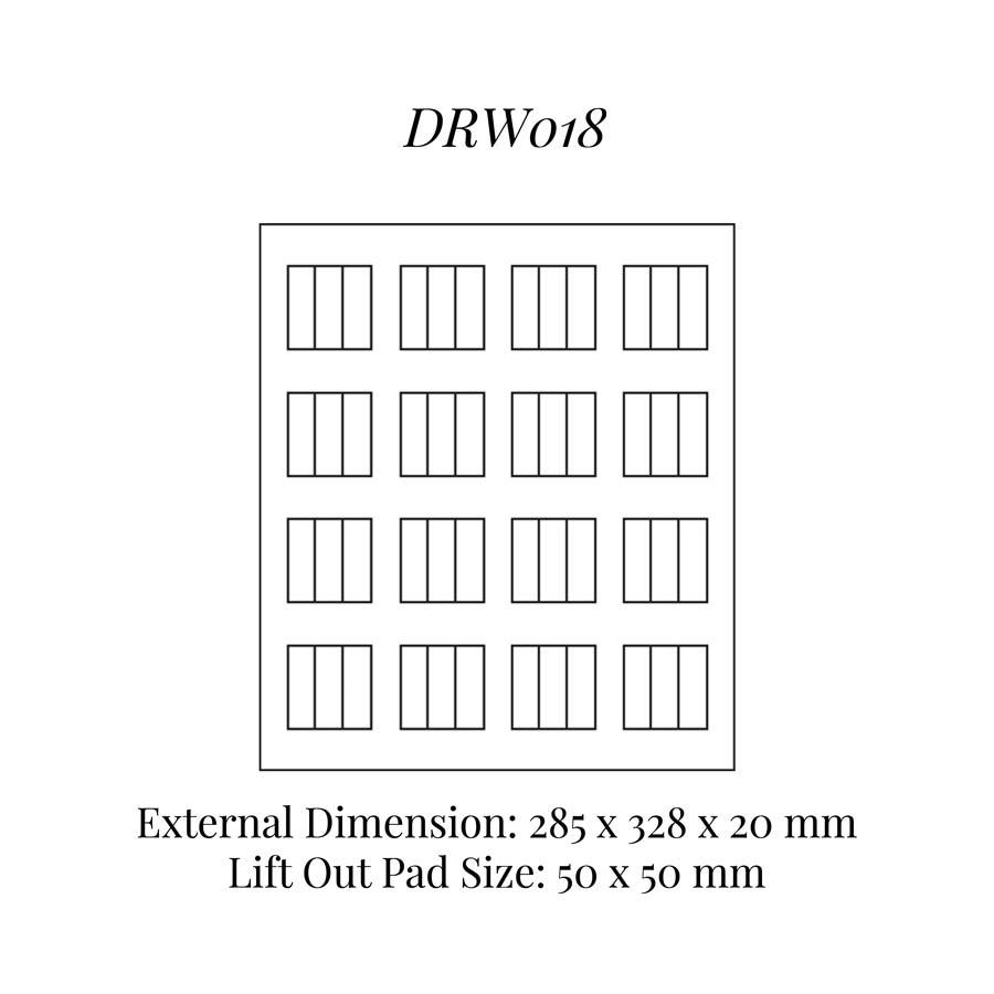 DRW018 Earrings (16) Drawer Insert