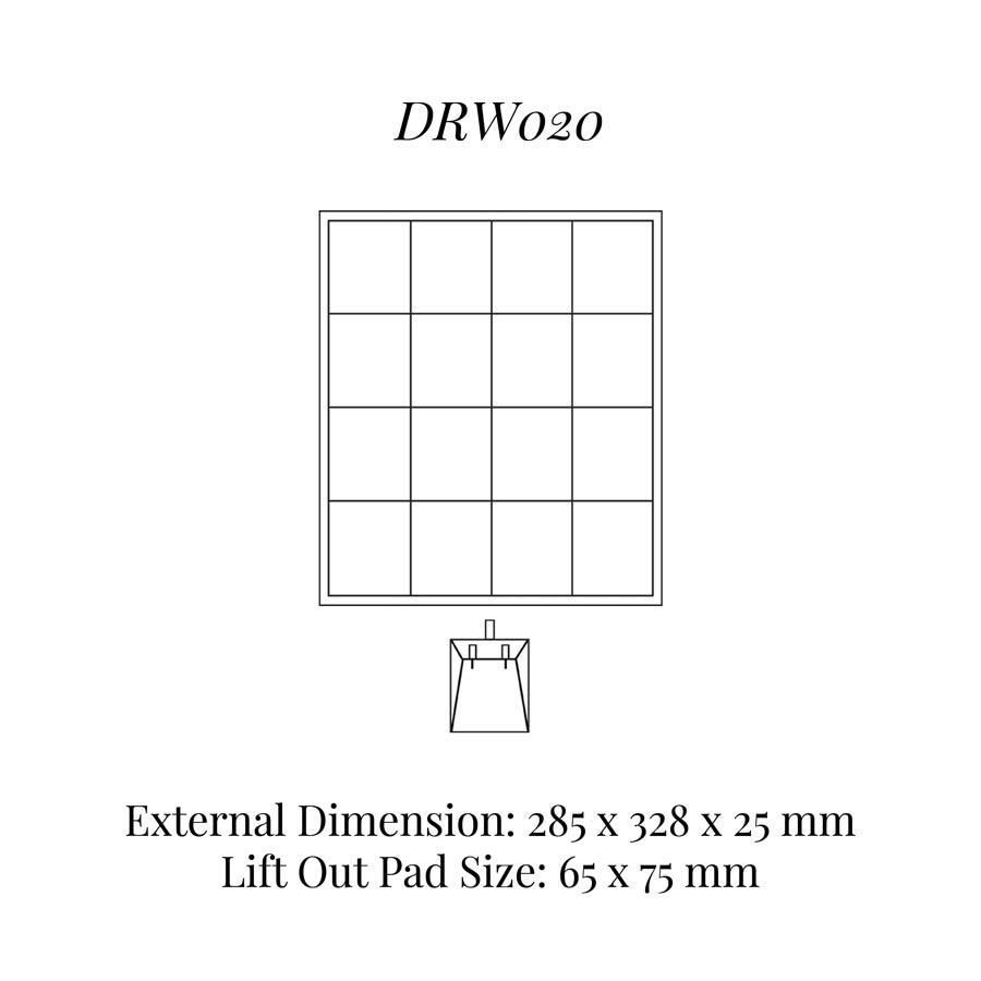 DRW020 Drop Earrings Drawer Insert