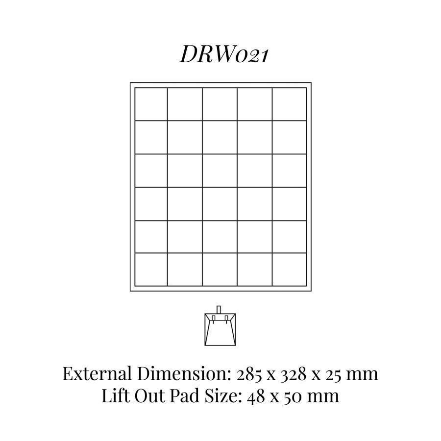 DRW021 Stud Earrings Drawer Insert