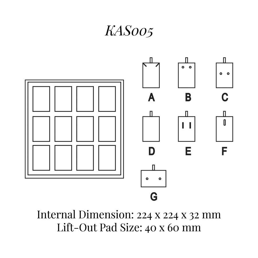KAS005: 12 on Pad Tray