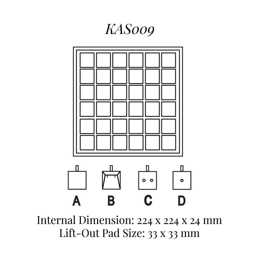 KAS009: 36 on Pad Tray
