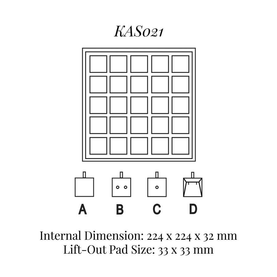 KAS021: 25 on Pad Tray