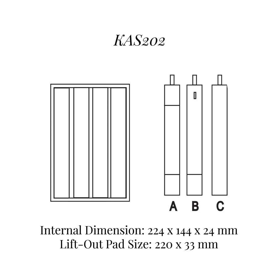 KAS202: 4 on Bracelet Tray