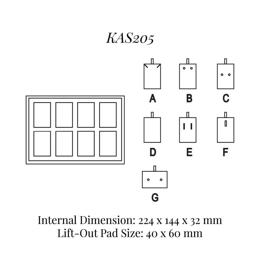 KAS205: 8 on Pad Tray