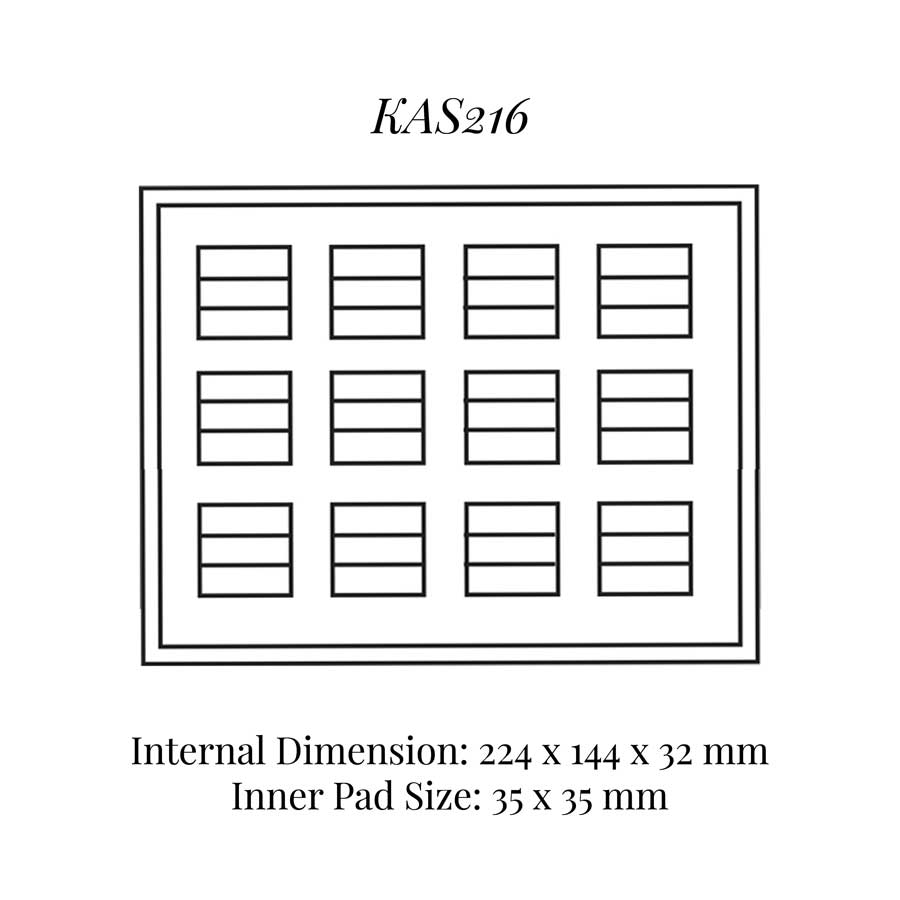 KAS216: 12 on Double Rings Tray
