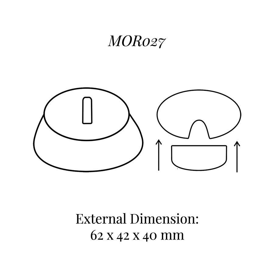 MOR027 Single Ring Display Block with Clip
