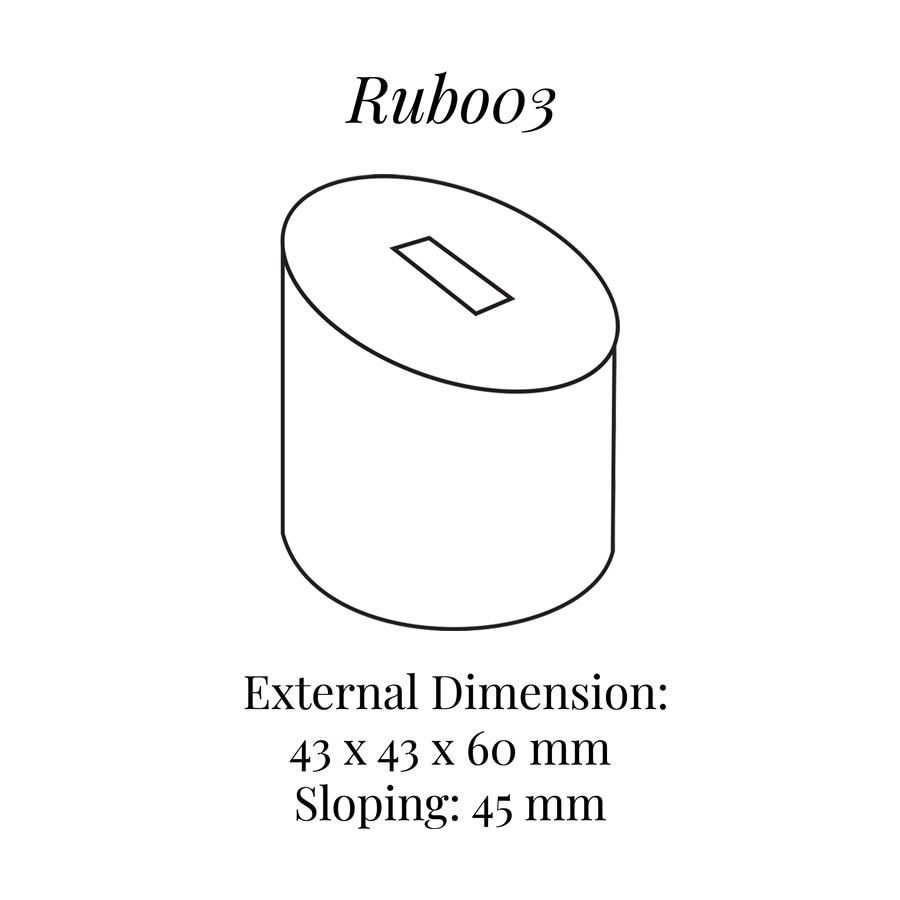 RUB003 Medium Round Round Column