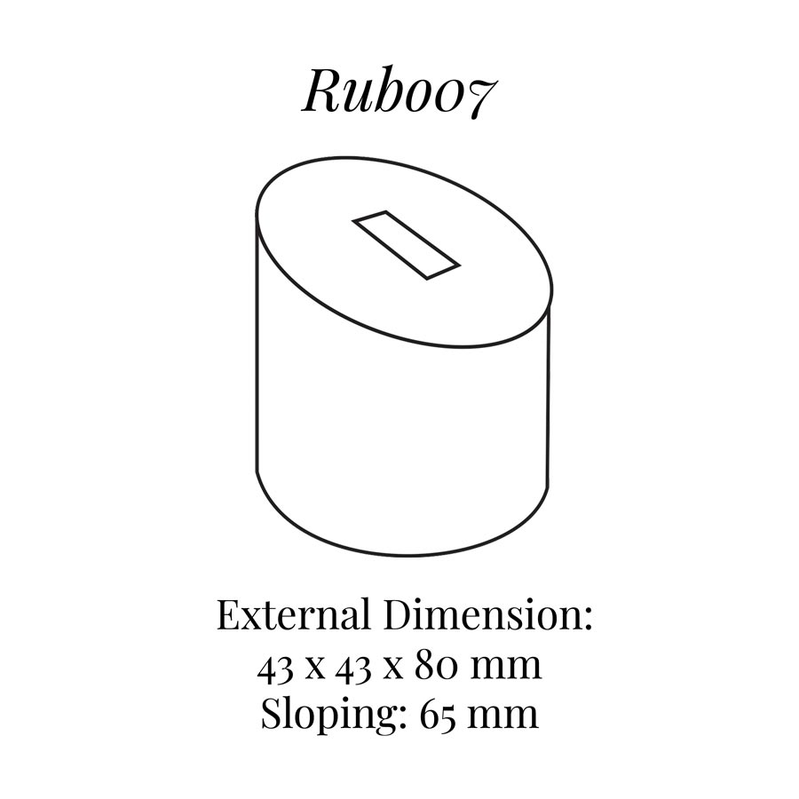 RUB007 Tall Round Ring Column