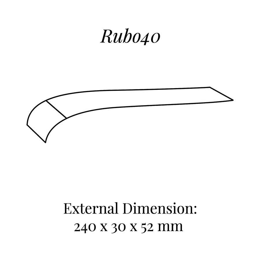 RUB040 Curved Bracelet Display