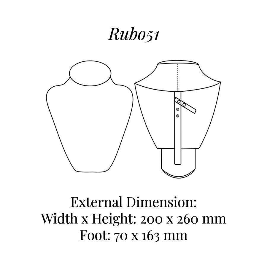 RUB051 Neck Bust Display