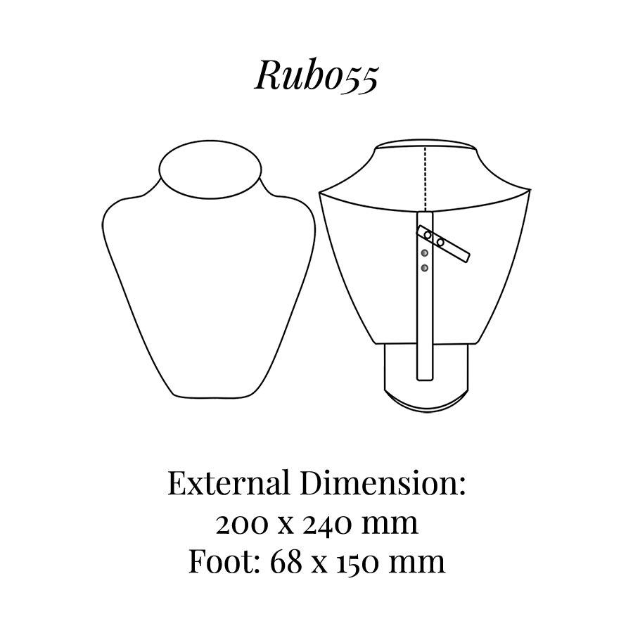 RUB055 Neck Bust Display