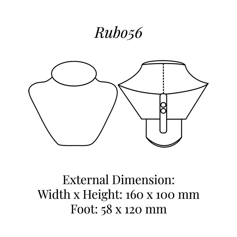 RUB056 Neck Bust Display