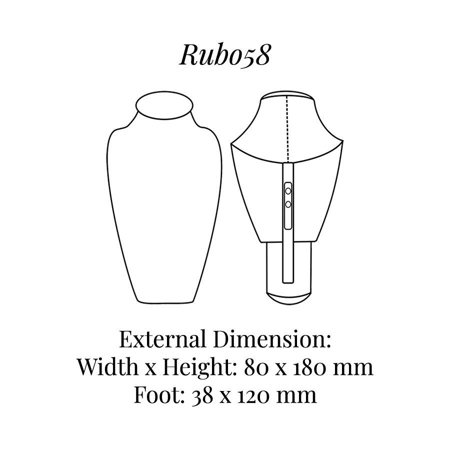 RUB058 Neck Bust Display