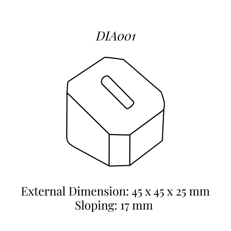 DIA001 Single Ring Column (45 x 45 x 25/17 mm)