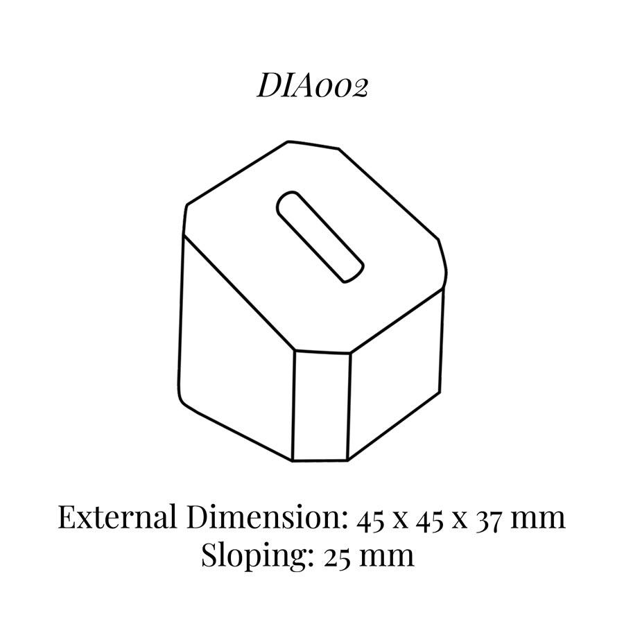 DIA002 Single Ring Column (45 x 45 x 37/25 mm)