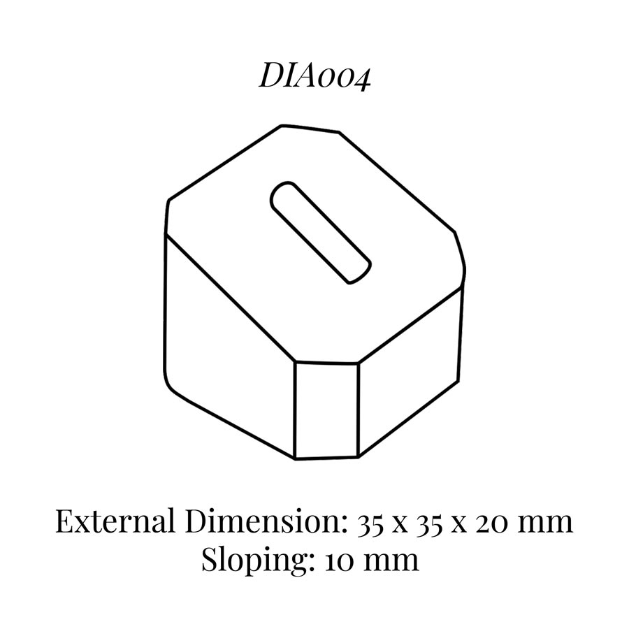 DIA004 Single Ring Column (35 x 35 x 20/10 mm)