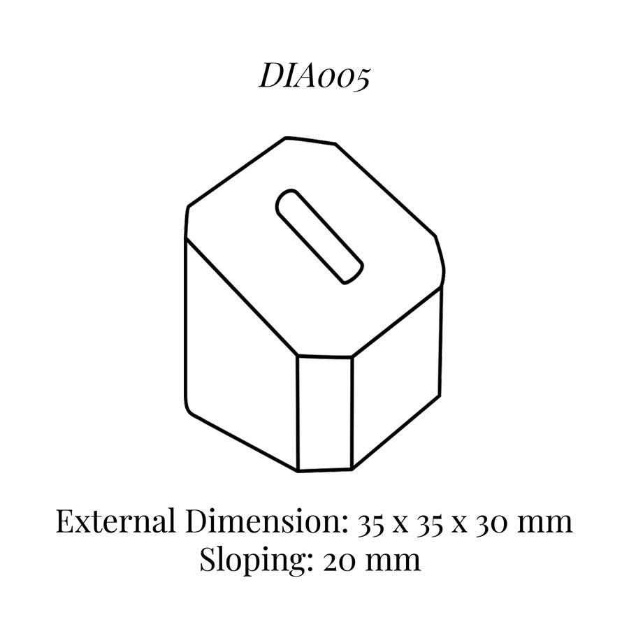 DIA005 Single Ring Column (35 x 35 x 30/20 mm)