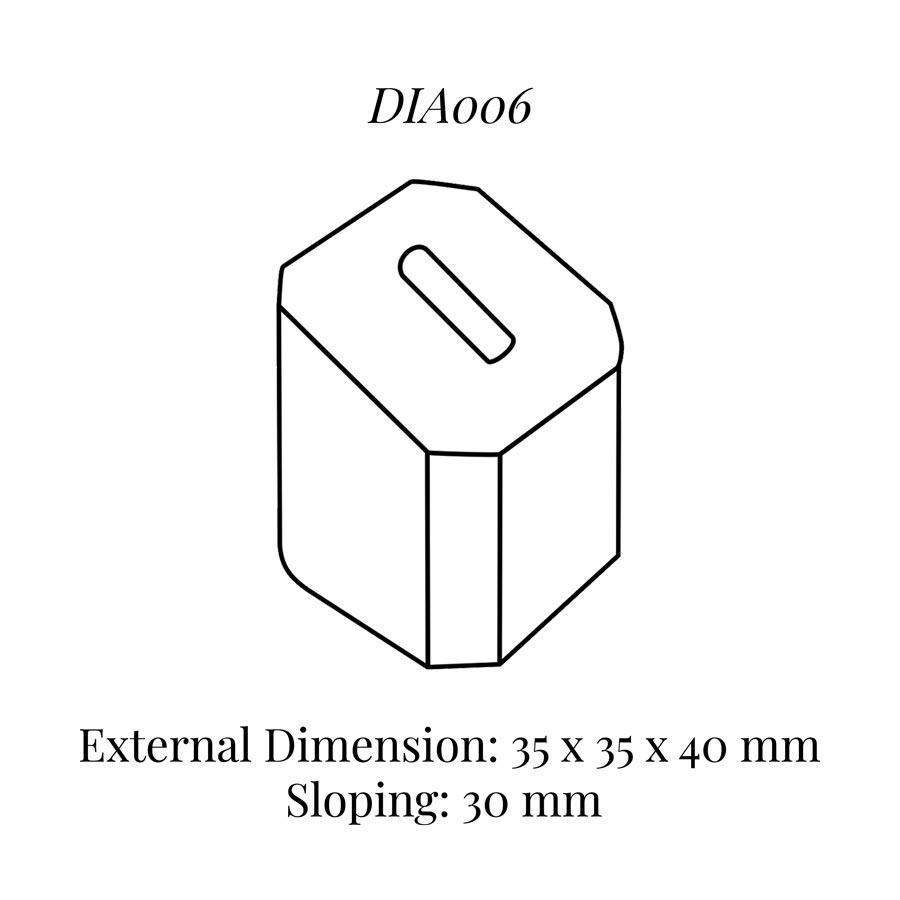 DIA006 Single Ring Column (35 x 35 x 40/30 mm)