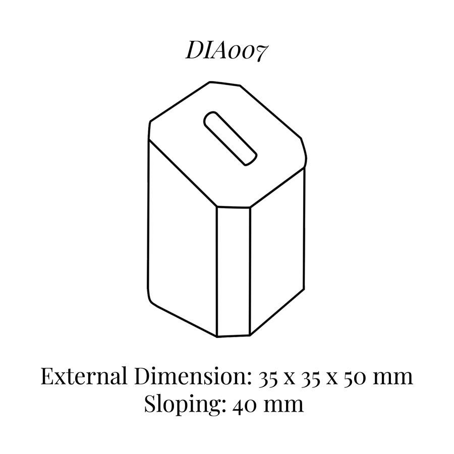 DIA007 Single Ring Column (35 x 35 x 50/40 mm)