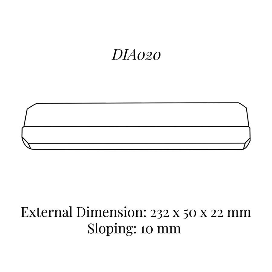 DIA020 Bracelet Wedge (232 x 50 x 22/10 mm)