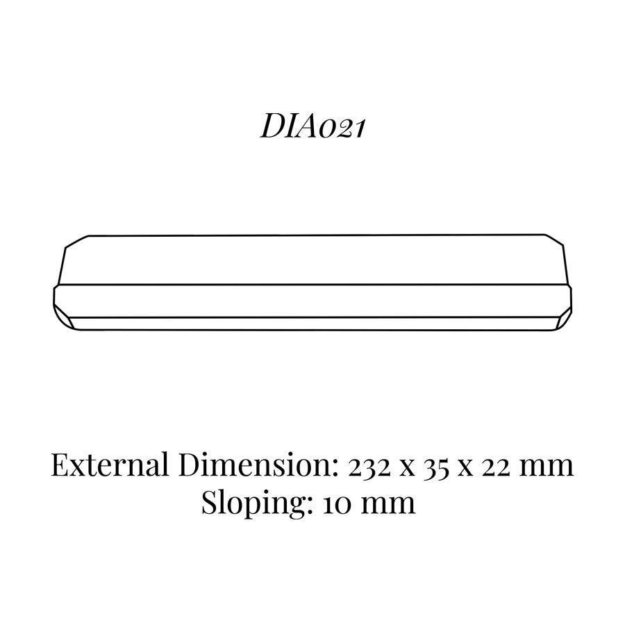 DIA021 Bracelet Wedge (232 x 35 x 22/10 mm)
