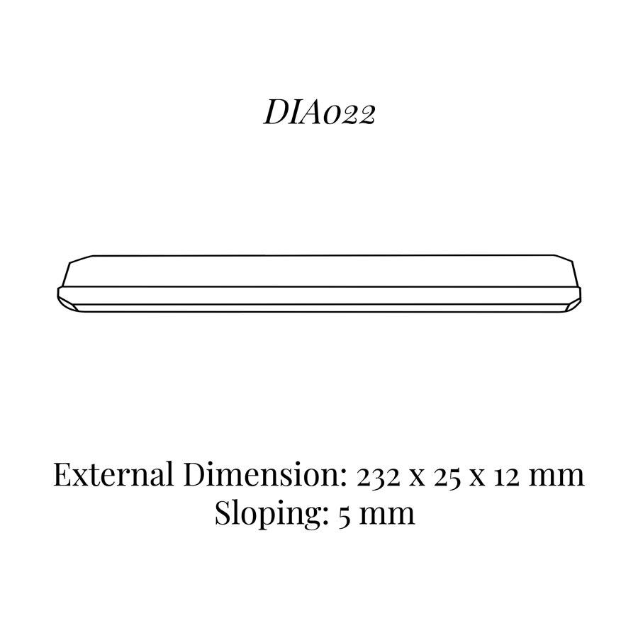 DIA022 Bracelet Wedge (232 x 25 x 12/5 mm)