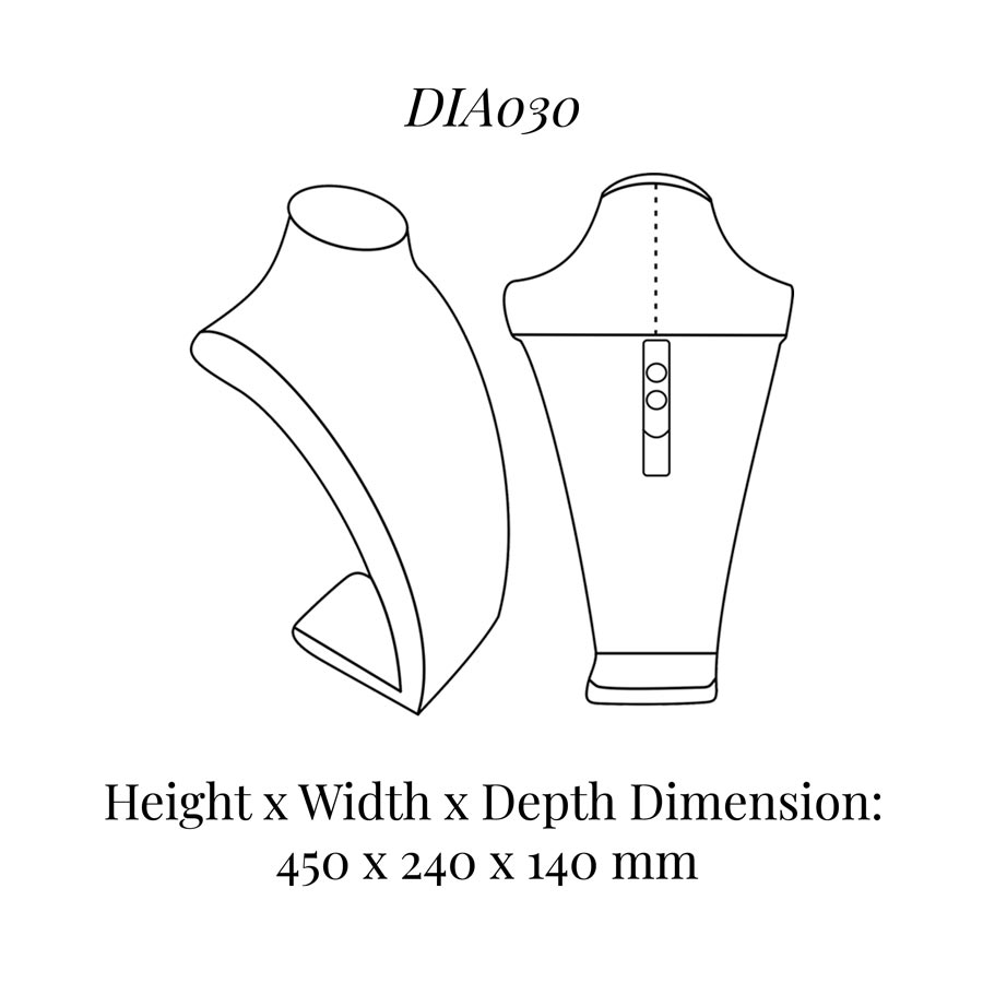 DIA030 Neck Bust (Height: 450mm)